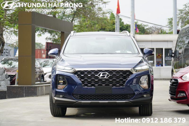 SantaFe 2019 màu xanh tại Hyundai Hải Phòng