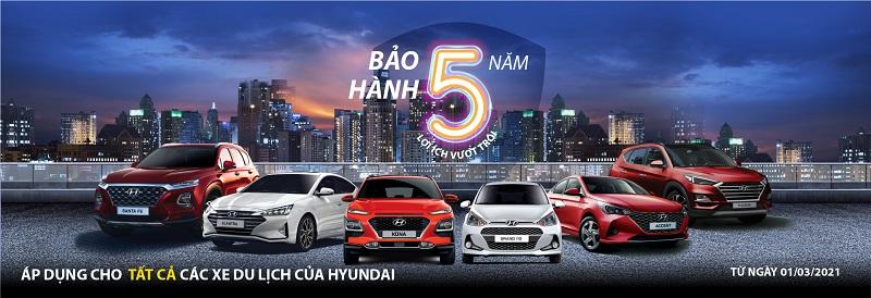 xe hyundai bao hanh 5 nam